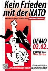 Mobiliseringsplakat München 2013.