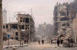 """Homs etter å ha blitt """"reddet"""" av NATO"""